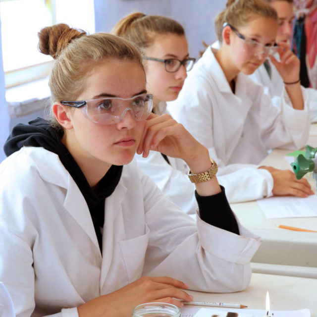 cours de science au lycée Steiner Waldorf